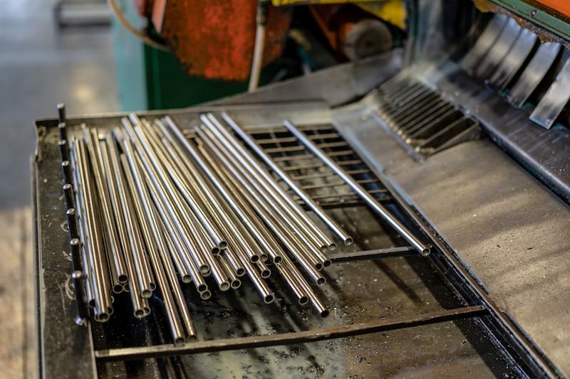 lavorazione tubi e tondini ferro